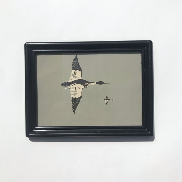 Vintage Other - Vintage Bird Art Plastic Frame Flying South Winter